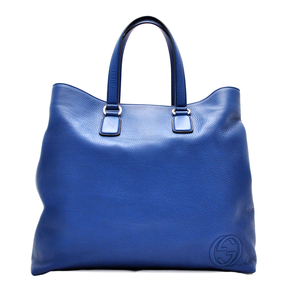 Gucci Large Blue Leather Tote Bag DreamLux Studio