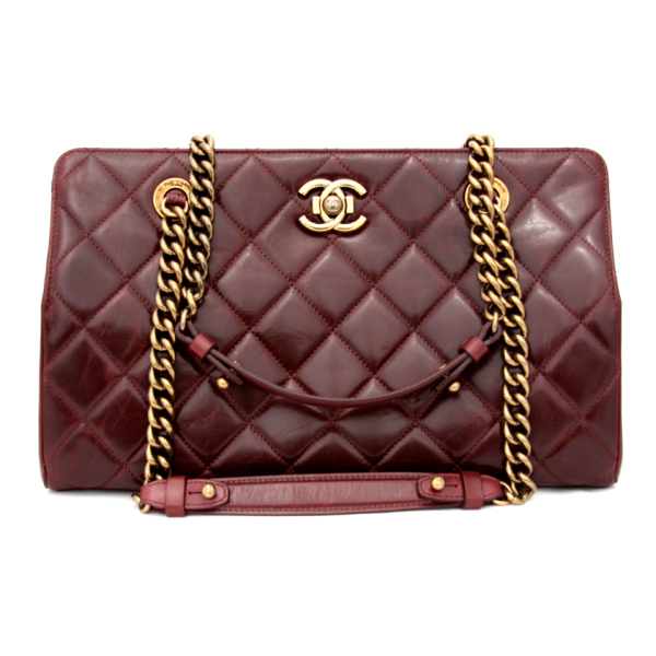 af9e4287b05 Chanel Burgundy Quilted Leather Perfect Edge Tote Bag DreamLux Studio