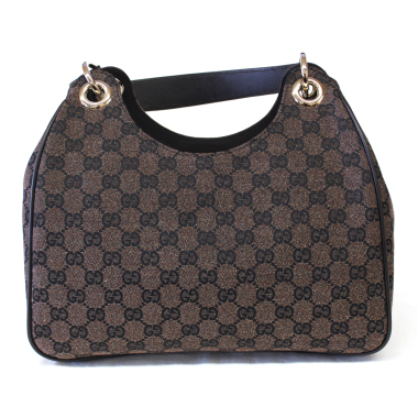 Gucci Colbert Dark Brown Denim Hobo