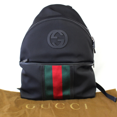 Gucci Black Canvas Medium Backpack