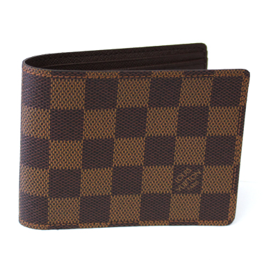 louis vuitton damier ebene canvas multiple wallet
