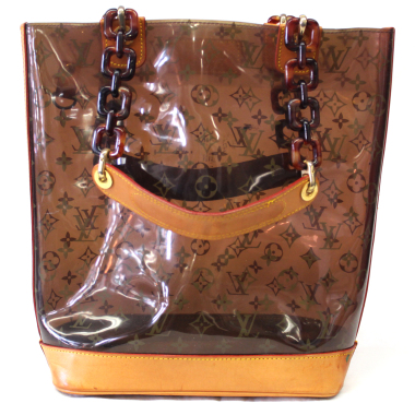louis vuitton vinyl cabas plastic tote bag