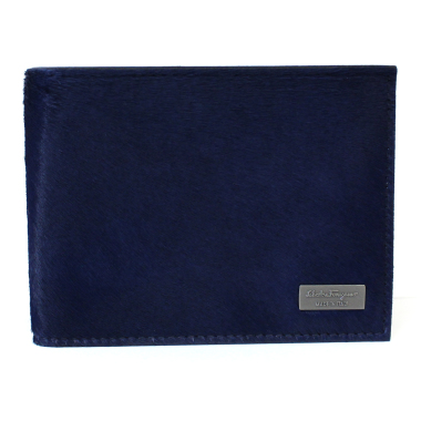 salvatore ferragamo luxor pony bifold calf hair wallet