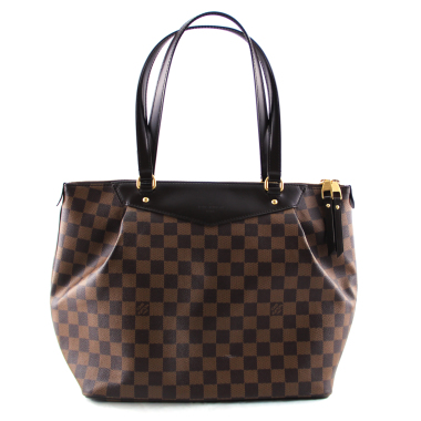 louis vuitton damier ebene westminster gm tote bag