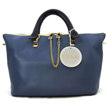 Chloe Navy Colorblock Calfskin Small Baylee Bag
