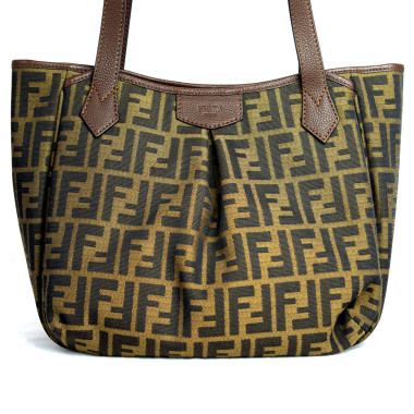 Fendi Zucca Piccola Brown Tote Bag