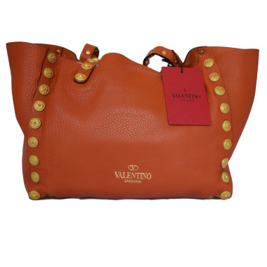 Valentino Large Mauve Leather Gryphon-Stud Tote