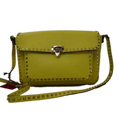 Valentino Rockstud Flap Bag Yellow