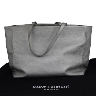 Saint Laurent Silver Eastwest Shopping Bag