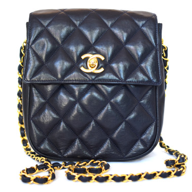 Chanel Vintage quilted lambskin flap bag