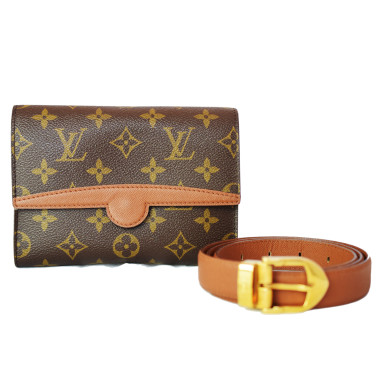 Louis Vuitton Monogram Canvas Pochette Ceinture Arche & Belt