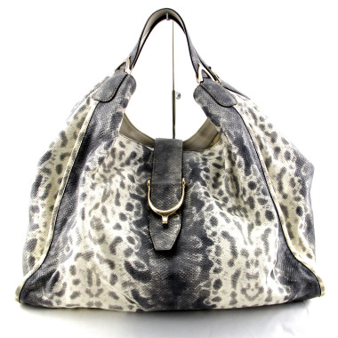 gucci soft stirrup python leather hobo bag